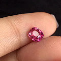 无烧小小的粉蓝宝,晶体整体不错1克拉多点