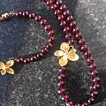 也来水个红包,看看自己做的紫牙乌项链和手串!
