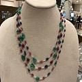 圣诞快乐!集圣诞颜色/四大贵宝(红蓝绿钻石)于一身的项链