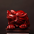 天工大师 雕刻 老料小叶紫檀 雕件/摆件--龙头龟