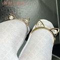 小清新猫耳朵珍珠戒指