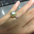 展会上买的珍珠镶嵌好了 还图