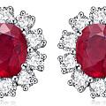 想买红宝石耳钉