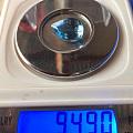 9.49克拉海蓝宝,晶体干净,实物颜色和照片差异不大,很美,价格小贵
