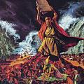 Mose摩西怒摔法板 雕刻艺术品贝雕