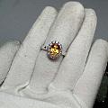 刚收到的黄色蓝宝石戒指