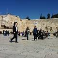 耶路撒冷天空下的哭墙