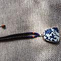出一套自己diy的古风老瓷片青花瓷挂链