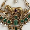 古董展上的收获,18世纪哥伦比亚祖母绿,天然珍珠,Lamb of God