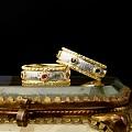 出一个18k金红宝石复古戒指,出了~~