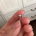 pt950钻石耳钉 0.25克拉 结婚定制的带了一次