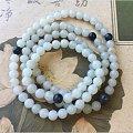 【环佩珊珊】新疆和田白玉籽料108颗佛珠,6mm白玉籽珠,和田玉手链项链佛珠