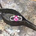 做了枚尖晶戒指