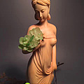 传统木雕手工佳作,《江山美人》