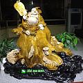传统木雕 国木金丝楠《招财笑佛》