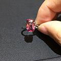 长方形2.56克拉缅甸粉色尖晶石