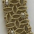 18K金镶钻石项圈,意大利知名品牌,独特的设计,精致的金工