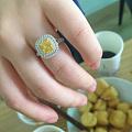 1.32克拉fiy黄钻戒指