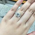 生日礼物~一克拉祖母绿切割钻石镶嵌好啦~