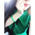 🐣出门搭配秀~镯子是真爱!翡翠真的有它的魅力 我好想要个绿桃啊啊啊啊!