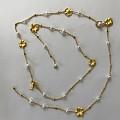 Just Gold 珍珠长项链,戴了没几次,断了。24K金细项链不能买。