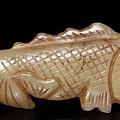 老和田玉玉鱼挂件