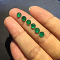 5*4MM,VVG椭圆形素面祖母绿