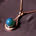 出几个多米尼加蓝珀镶嵌的吊坠戒指吧
