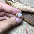 和田玉原石籽料戒指