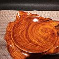老挝大红酸枝果盘,糖果盘摆件整料雕成