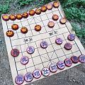 印度小叶紫檀同料象棋,高密度印度老料,带水波带金星