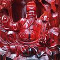 【财神到•笔筒】印度小叶紫檀纯手工笔筒镂空一体雕刻 料子细腻