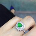 镶嵌回来的翡翠爱心戒指