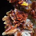 寿山老性芙蓉石花开富贵摆件色彩艳丽夺目天然俏色巧雕