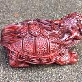 【精工•龙龟】印度小叶紫檀龙龟摆件, 纯手工雕刻