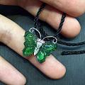 冰绿翡蝴蝶吊坠和戒指
