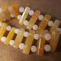 黄翡翠履带式手排链