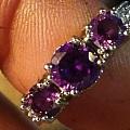 紫色黝帘石戒指