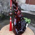 老挝大红酸 级笔挂,山水纹,实物更漂亮,精雕设置而成