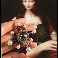 原创手工琉璃珍珠水晶胸针