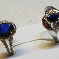 蓝宝石银戒指