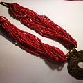 红珊瑚珠穗项链