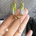 原创手工古法琉璃耳环,送小妞照片一张观赏,哈哈