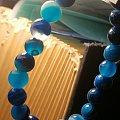 蓝色玛瑙手珠链