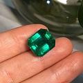 极品祖母绿两枚,超级美,喜欢得进,收藏级。