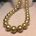 今日秒杀:天然菲律宾浓金金珠项链,颜色浓郁,珠光美