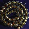 墨西哥蓝珀圆珠项链