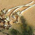 最近长草的一支纯银烧蓝玉兰发簪