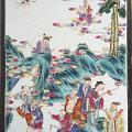 清光绪八仙祝寿瓷板画