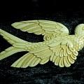 象牙雕飛鳥二件